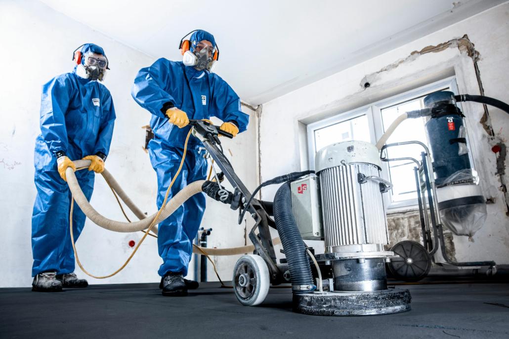 JUVE-Sanierungs-Gmbh-Duesseldorf-Asbest-sanierung-Schleifmaschine